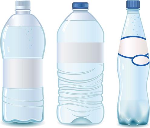 vector water bottle template