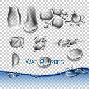 vector water drops illustration design