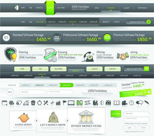 vector web elements menu art graphic
