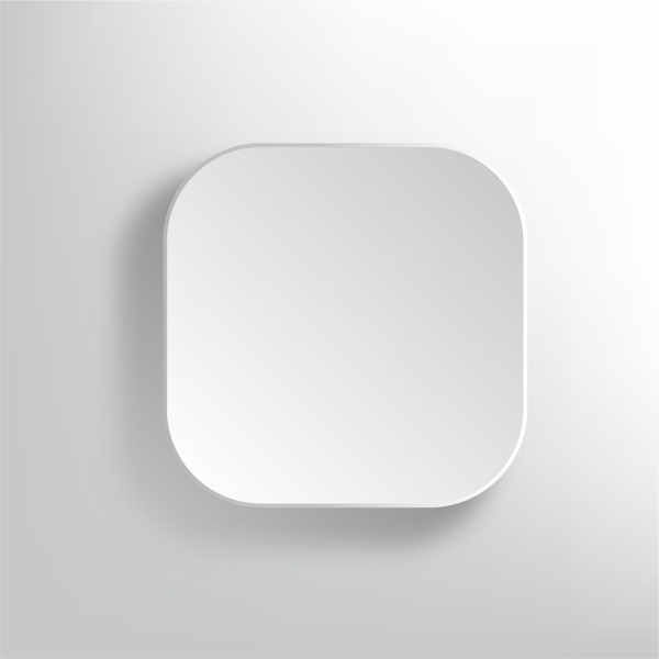 vector white blank button app icon template free vector in adobe