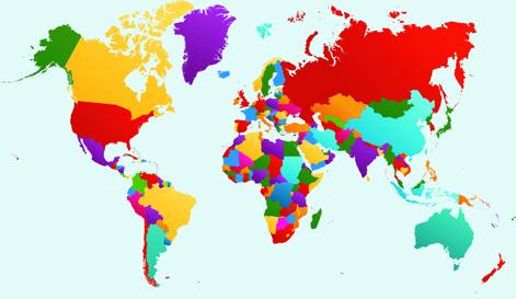 vector world map design graphics set