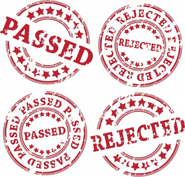 approval seal templates classical red retro circle shapes