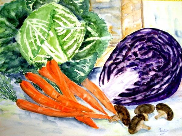 vegetables carrots kohl