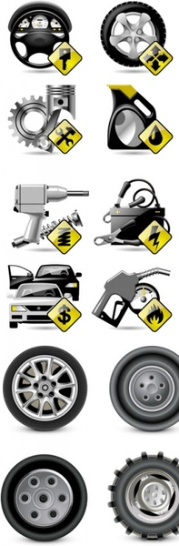 vehicle maintenance and repair icon vector