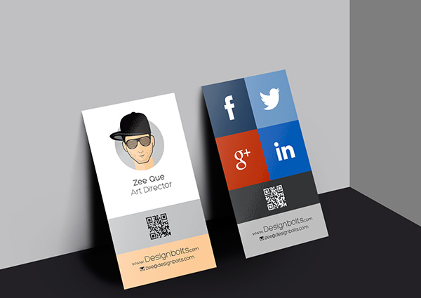 vertical business card design template