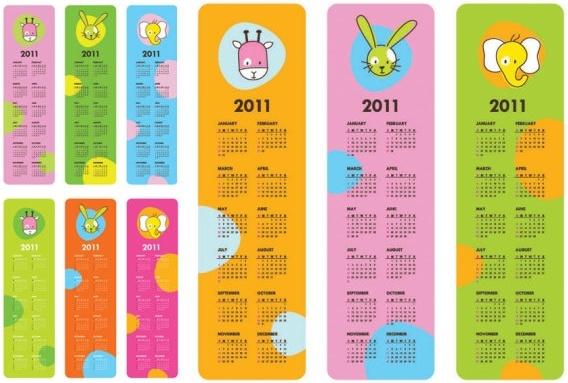 very cute clip art calendar 2011