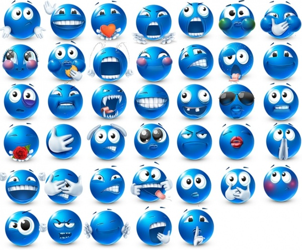 Very emotional emoticons 2 icons pack