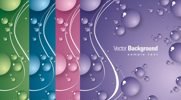 vesicular background vector graphic