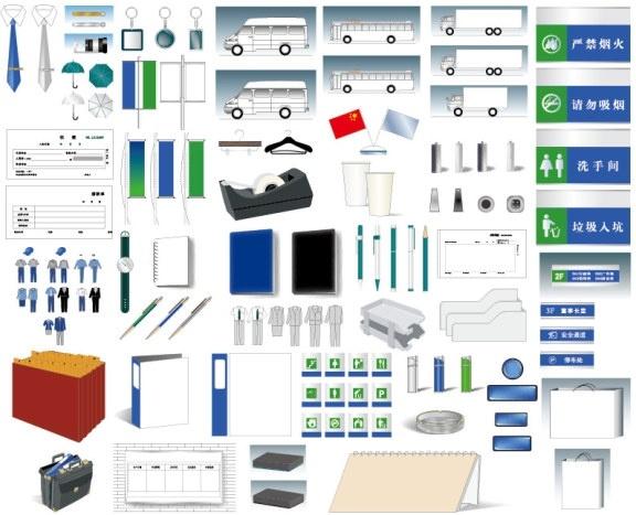 vi design template comprehensive vi elements ai format vector