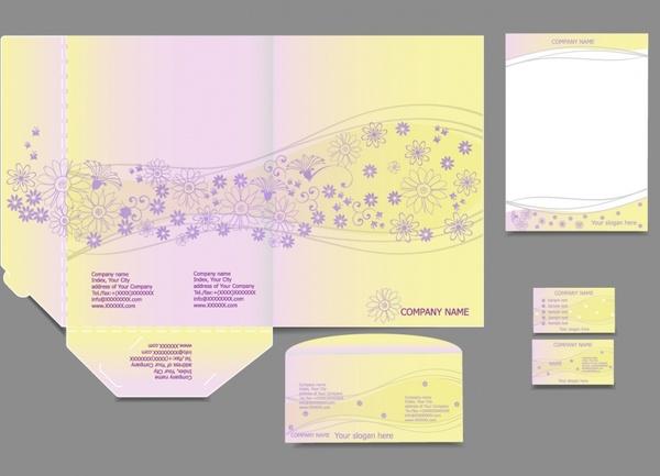 vi template vector business cards letterheads