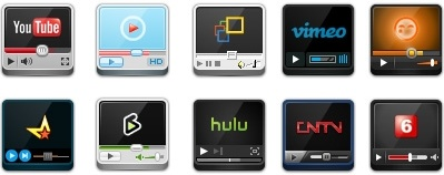 Video Websites Player ICON icons pack