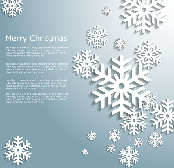 vintage 3d christmas snowflakes background