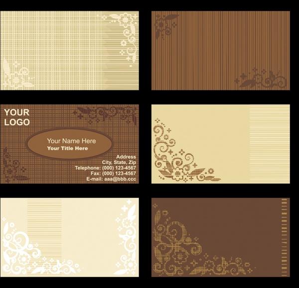 Vintage Background Card Template Vector