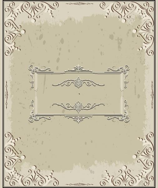 vintage background classical curves frame decoration
