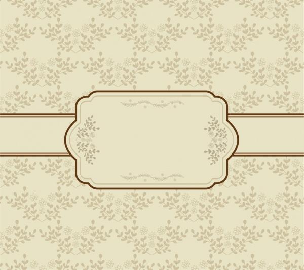 vintage background seamless flowers decoration classical frame design