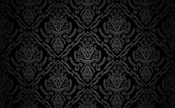 Traditional pattern background dark black vintage ...