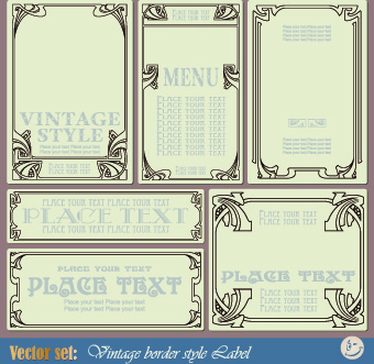 vintage border style design vector