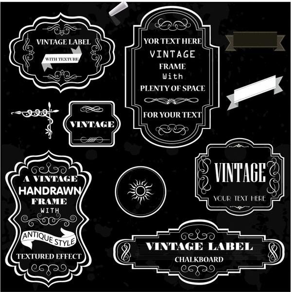 vintage chalk frames free vector in adobe illustrator ai ai