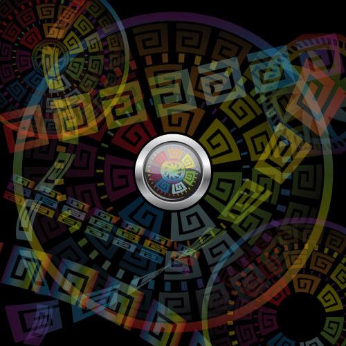 vintage circle round background vector