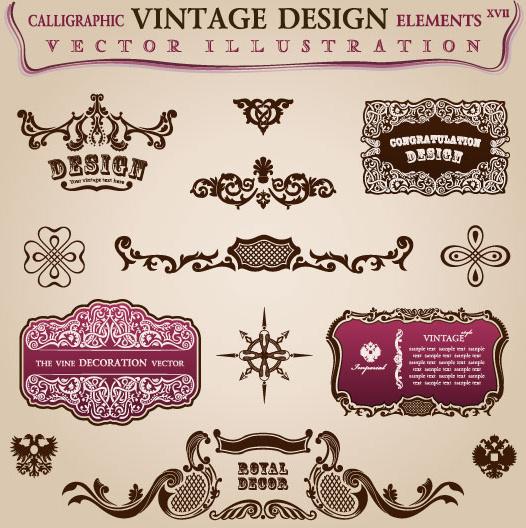 vintage classic borders vector