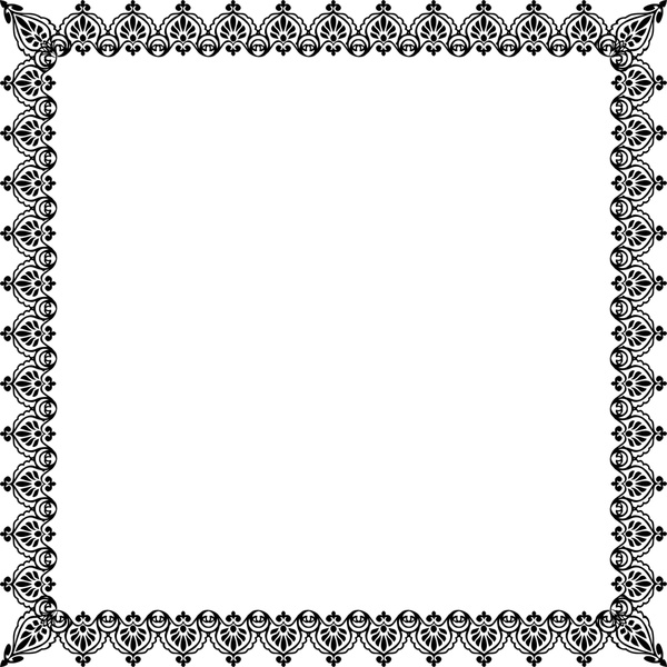 Vintage decorative frame vector illustration Free vector in Open ...