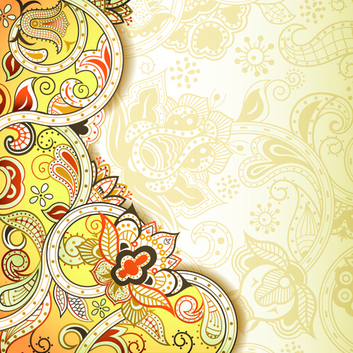 vintage decorative pattern background graphics vector
