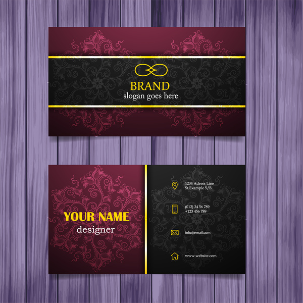 Vintage design business card template free vector in adobe vintage design business card template reheart Gallery