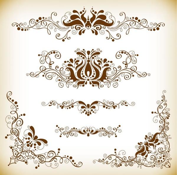 vintage design element vector graphis set