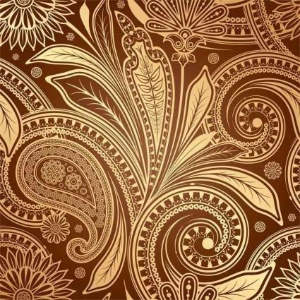 vintage fine pattern background vector