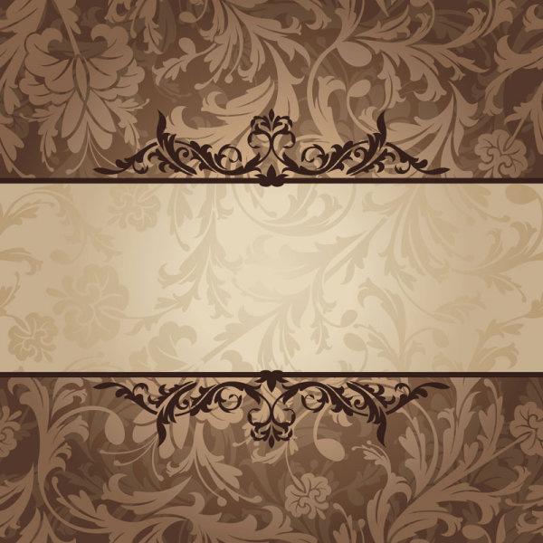 vintage floral frame vector backgrounds set