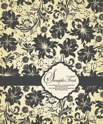 vintage floral pattern background vectors