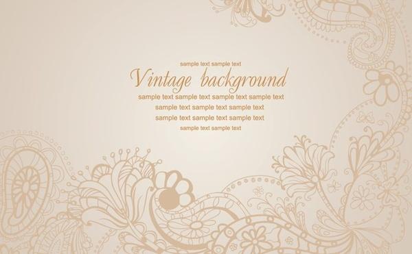 floral background vintage seamless design