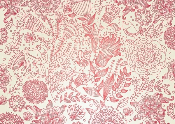 vintage floral vector background free vector in encapsulated