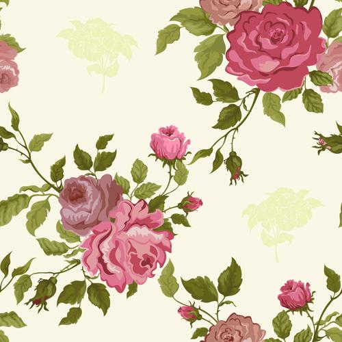 vintage flower vector patterns