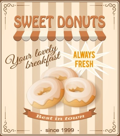 vintage food advertising poster design vector free vector in