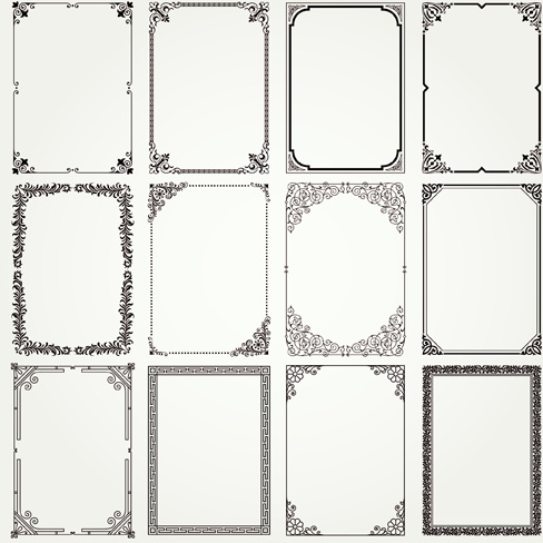 Vintage frames ornaments vector set Free vector in Adobe Illustrator ...
