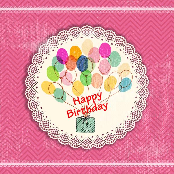 vintage happy birthday card design