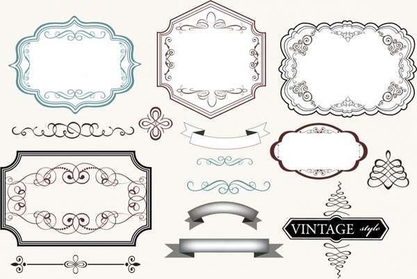 Vintage Labels Free vector in Adobe Illustrator ai ( .AI ...