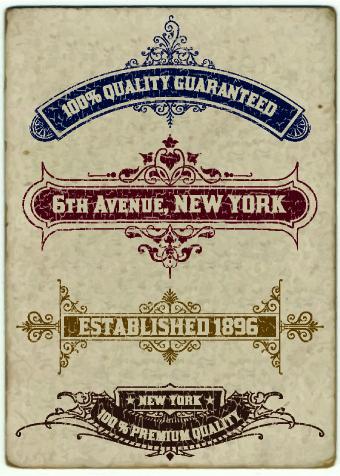 vintage labels design vector set