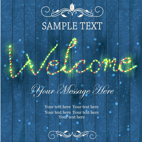 vintage leon light welcome message