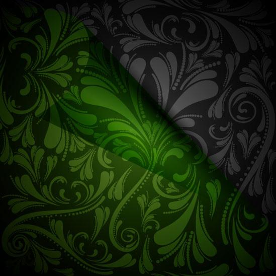 vintage luxurious floral background vector