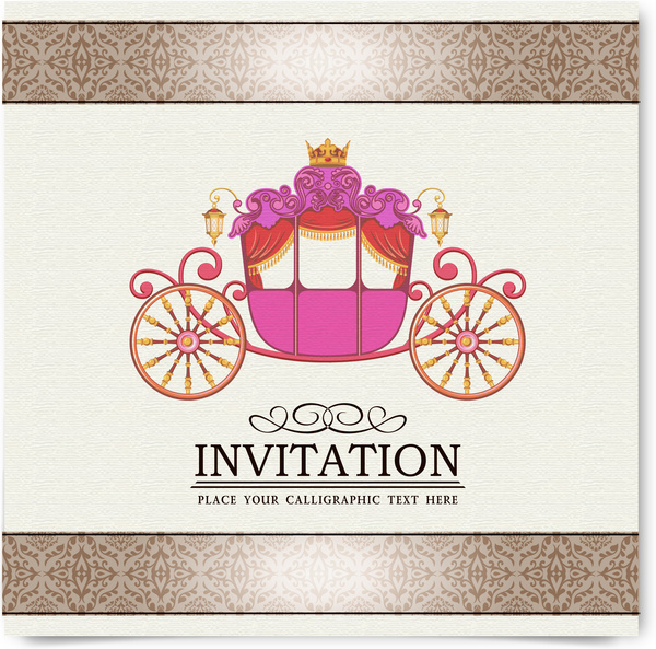 Vintage Party Invitation Card Decor Free Vector In Adobe Illustrator