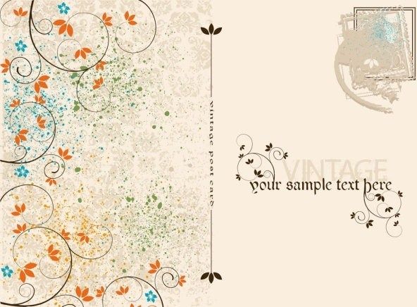 vintage postcards and stamps 02 vector