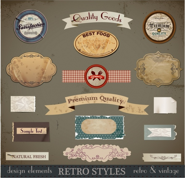 Vintage Retro Design Elements