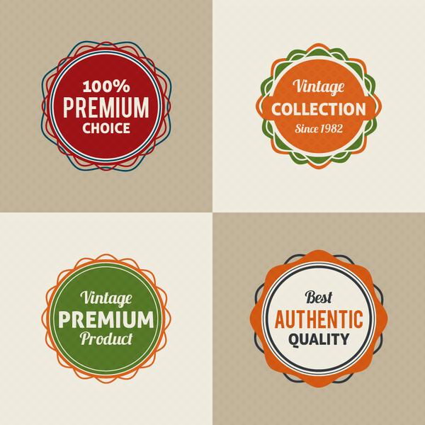 vintage round badge design free vector in adobe illustrator ai ai