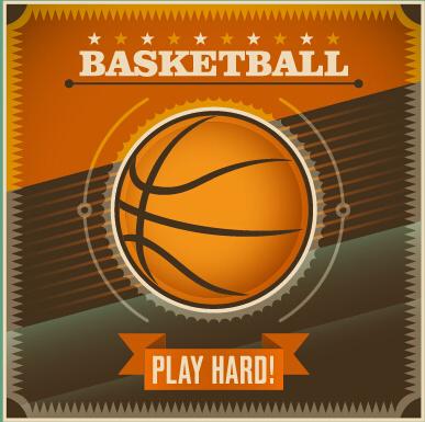 vintage sport ball vector art background