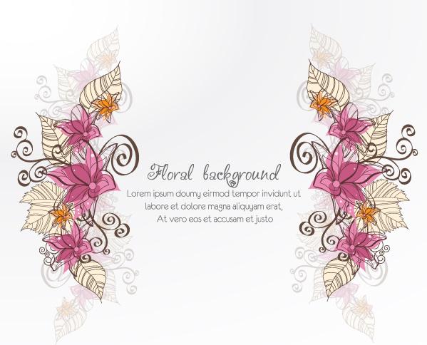 vintage spring floral background
