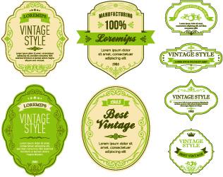 vintage style labels vector set