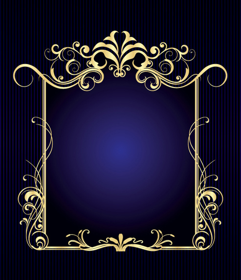 Vintage style luxury frame vector set Free vector in Encapsulated ...