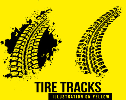 vintage tire tracks art backgrounds vector